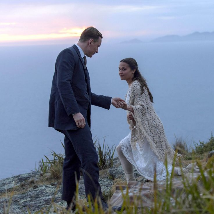 """Michael Fassbender and Alicia Vikander in """"The Light Between Oceans"""" upcoming film on 2016, september 2"""