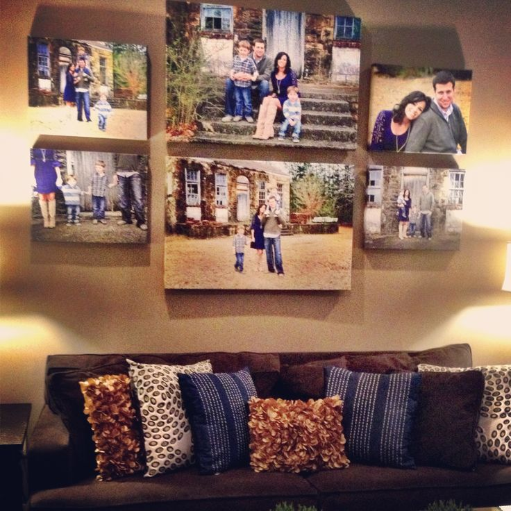 Canvas photo display, I like the canvas display but I'm loving the throw pillows!!!