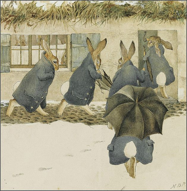 Beatrix Potter 'The Rabbits' Christmas Party: The Arrival'  by Plum leaves, via Flickr