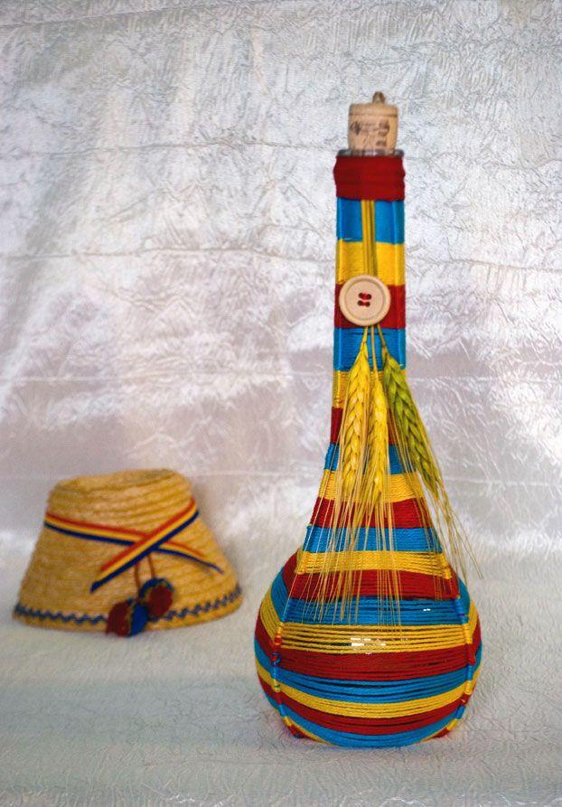 Tricolor - sticla decorativa (35 LEI la pia792001.breslo.ro)