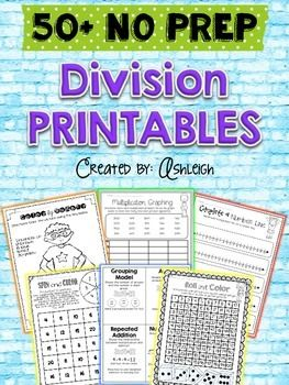 No Prep Needed! All you have to do is print, and you're ready to go! These division printables and interactive worksheets are a great way to supplement your existing math curriculum. These activities encourage conceptual understanding, as well as basic facts. $