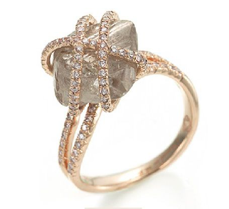 Natural Diamond Crystal Jewelry - Jewelry created with natural uncut rough diamonds