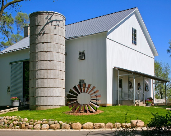Exterior Design Love The Silo In This Barn Home Converted BarnBarn HomesOld