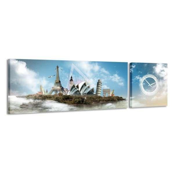 Zegar - obraz 4MyArt Symbols of the World 158 x 46 ◾ ◾ PrezentBox