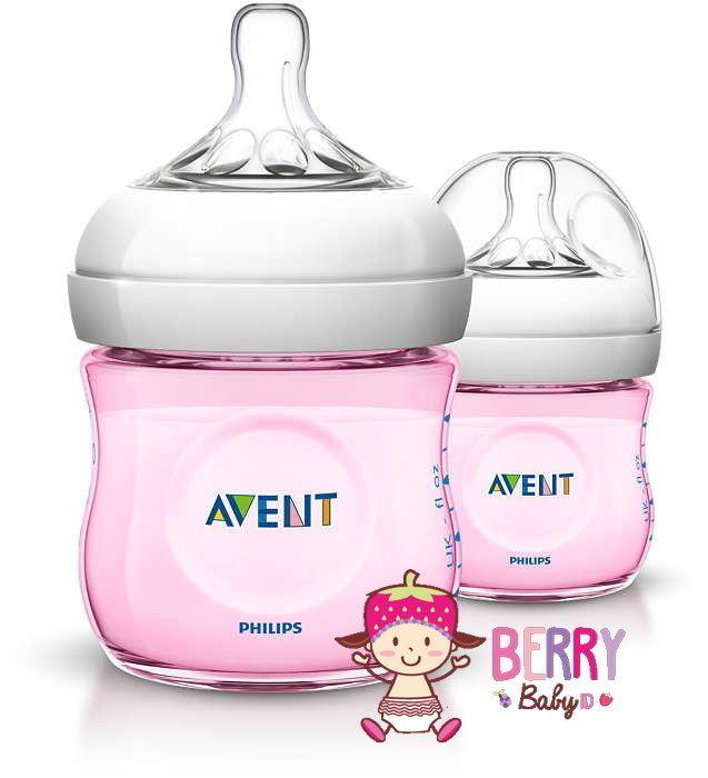 AVENT Natural 4 oz / 125 ml  Pink Twin Pack (2 botol) Rp 170.000 / pak  Kenapa Avent Natural? Bentuknya lebih lucu dibanding seri classic dan lebih ergonomis. Secara fitur pun lebih bagus dibanding seri pendahulunya terutama pada perubahan nipple nya. Nipple avent natural bentuknya lebih mirip kontur payudara. Lebih memudahkan bayi untuk latch on sehingga bayi mudah menggunakan botol semudah menyusu langsung pada ibu.  Pada nipple terdapat kelopak yang lembut dan nyaman. Membuat puting lebih…