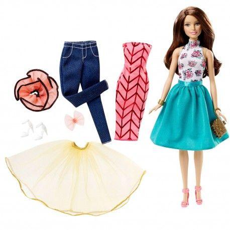 Barbie Mode Pop Mix and Match Barbie ziet er altijd fantastisch uit! Met de Barbie Fashion Mix & Match heeft Barbie nóg meer om uit te kiezen.  Help jij Barbie een handje om een mooi outfit uit te kiezen?  Deze Mix & Match set van Barbie wordt geleverd met een Barbiepop en 10 modieuze items. Geschikt voor kinderen vanaf 4 jaar.