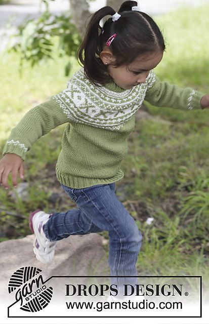 Free Pattern: Starshine Jumper worked top down Ages 3/4 - 5/6 - 7/8 - 9/10 - 11/12 years