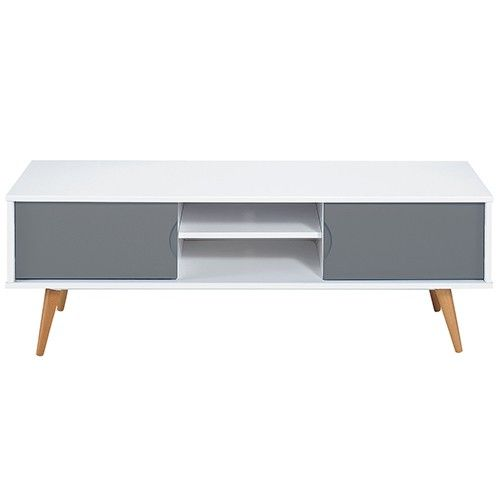 Vasby TV Unit - 2 Drawer - Low - Scandinavian Furniture | Milan Direct