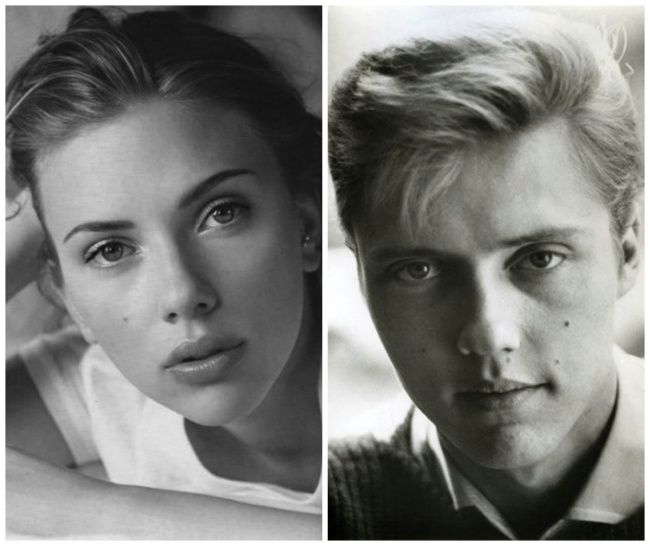 Scarlett Johansson look-alike young Christopher Walken. You will never look at her the same again.