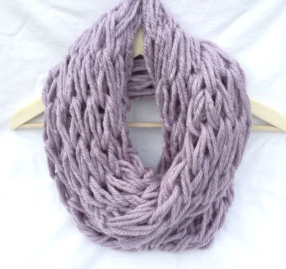how to make an arm knit scarf