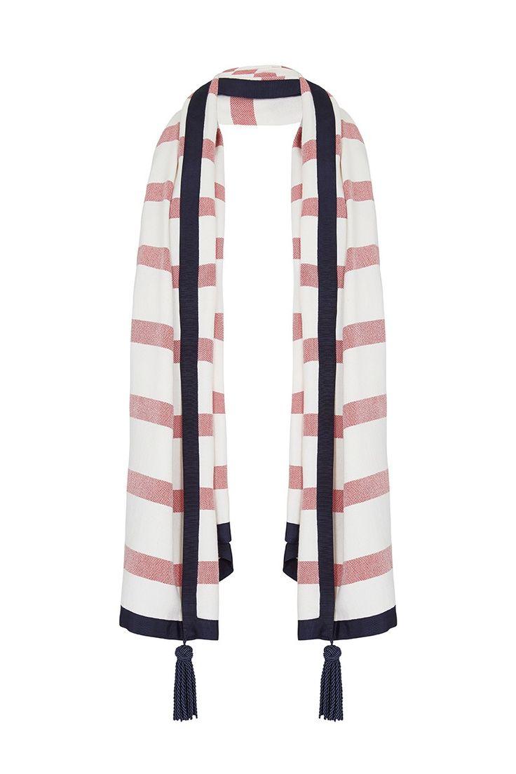 #sassandbide | FORM & STYLE scarf | #redwhiteblue #french #preppy #ivyleague #stripe #red #white #blue #prep
