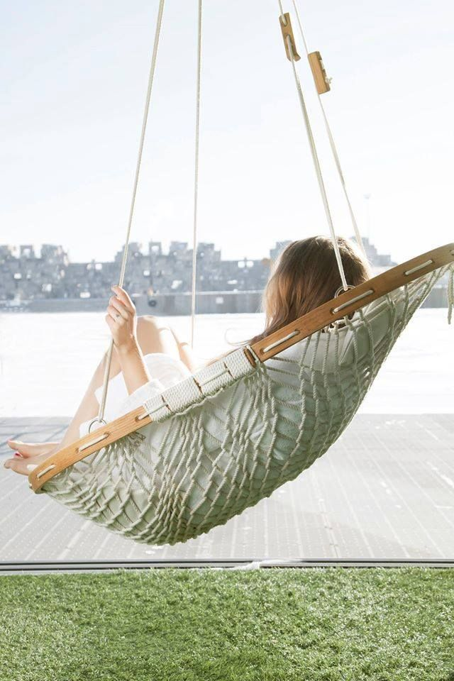 Rope Hammock Chair With Frame And Footrest Hanging Hammock Chair Rope Hammock Chair Hammock Chair