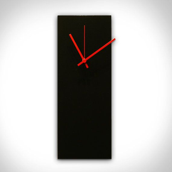 25 OFF Modern Wall Clock 'Blackout Red by ModernCrowd on Etsy, $74.99 (Different color clock hands)