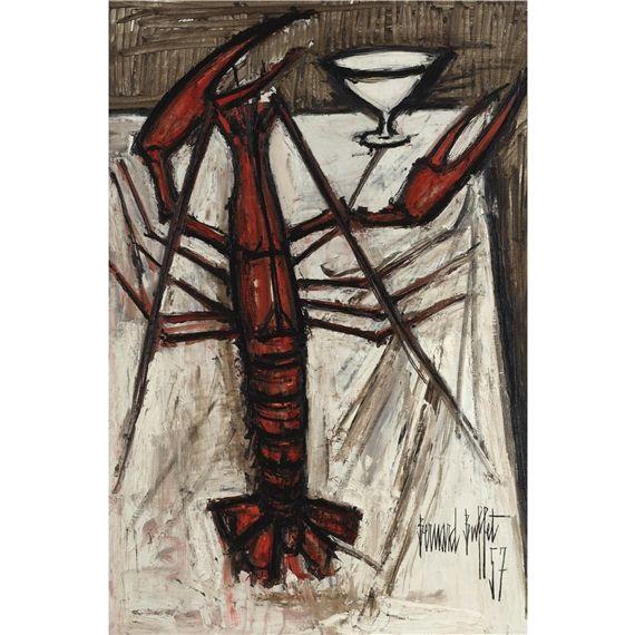 Bernard Buffet - Lobster, 1957