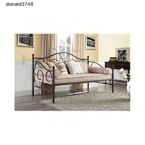 New!Twin Size Metal Daybed Frame Steel PewterDay Bed Contemporary Living Room  #Contemporary