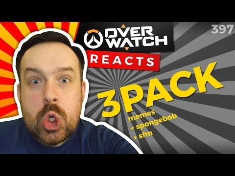 Reaction: Memes that sound like Overwatch weapons + OW portrayed by spongebob + Protect Your Healer