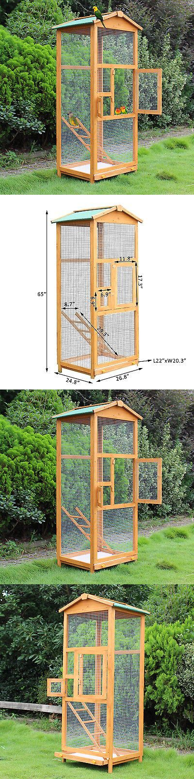 Cages 46289: Wooden Large Bird Cage 65? Pet Play Covered House Ladder Feeder Stand Outdoor -> BUY IT NOW ONLY: $109.99 on eBay!