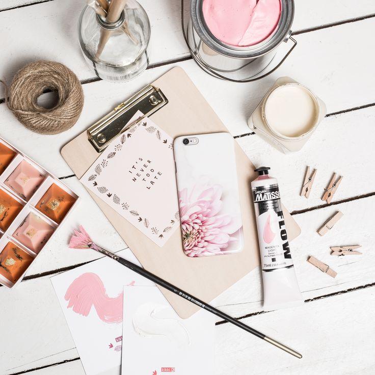 #flatlay #phone #blush #paint #palette #pink #nude #love