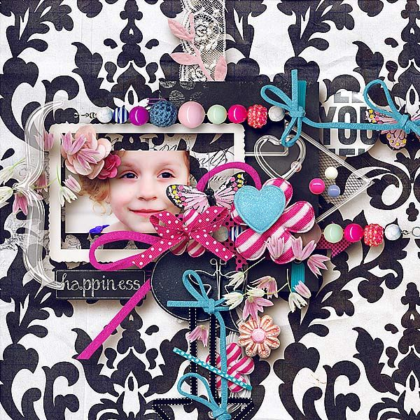 On Chalkboard: Beautiful You Collection By Palvinka @ scrapbookgraphics