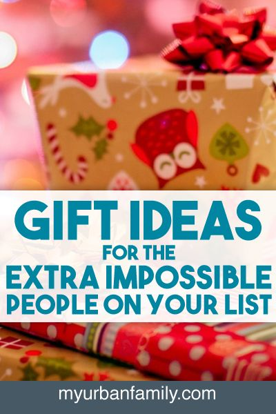 Sometimes you have people on your list who are EXTRA impossible to shop for. Here is the sequel to last year's popular post. Use these gift ideas to knock them all out in one stop!