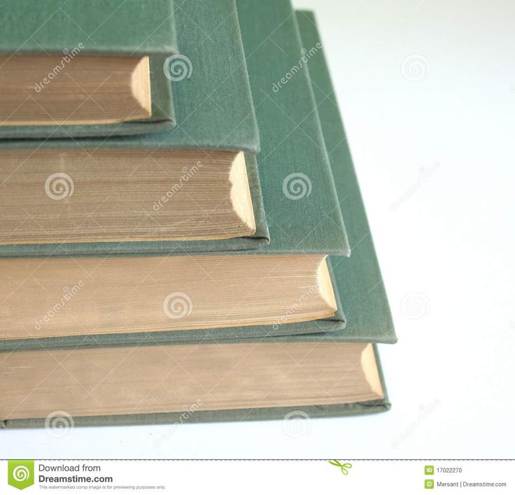 Some books with white background