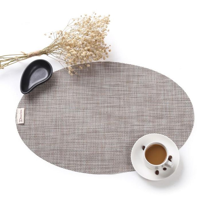 4pc/set Unique Oval Woven Dining Table Mats
