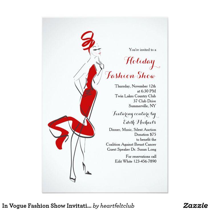 Fashion Show Invitation Template