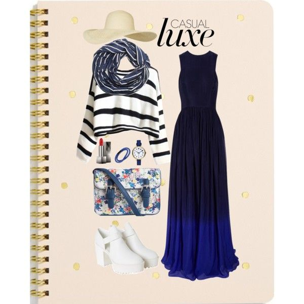 lux blue by lelymareta on Polyvore featuring Matthew Williamson, Monki, Pieces, MARC BY MARC JACOBS, Tateossian, SUMMERSKIN, Topshop, Burberry and Sugar Paper