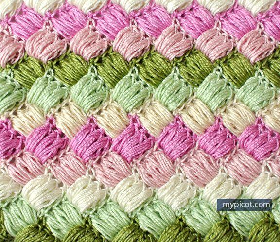 @ MyPicot  - Free crochet pattern: Simple Box Puff Stitch