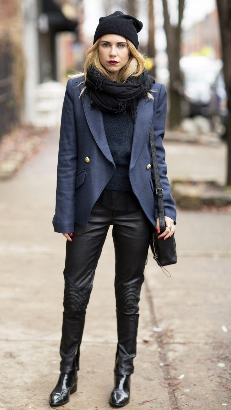Black dress navy blazer - One Of My Favorite Color Combos Navy Black Http Sulia