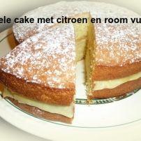 Dubbele cake met citroen en room vulling | Smulweb.nl