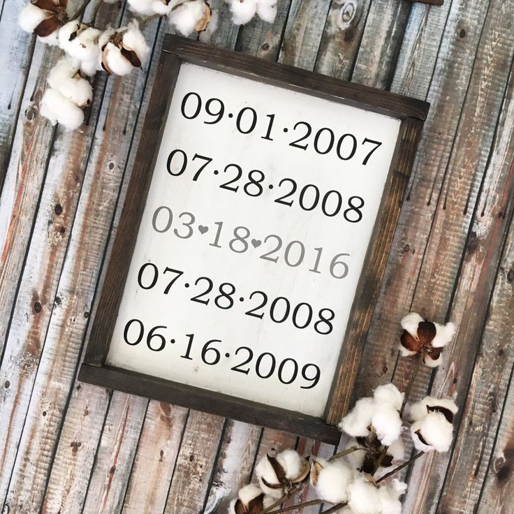 Special Dates Framed Wood Sign