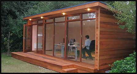 Pinterest the world s catalog of ideas for Garden office ideas uk