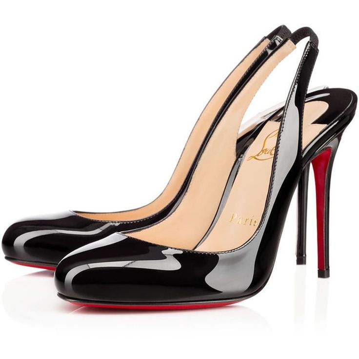 Christian Louboutin United States Official Online Boutique - Fifi Sling 100  Black Patent Leather available online. Discover more Women Shoes by  Christian ...