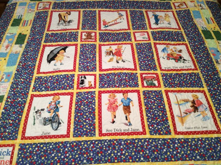 Dick and jane quilt Etsy