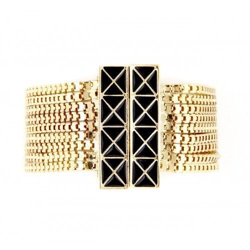Enamel Multi Strand Bracelet  - Gold