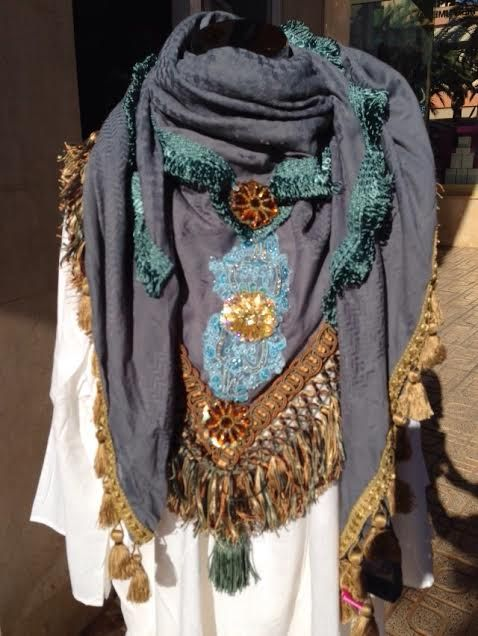 IZUSKAN one of IBIZA'S unknown TREASURES. Handmade scarves from IBIZA. Unique pieces, all different and hand dyed in beautiful colors! IZUSKAN colors YOU! @ Queens of Joy, Ibiza.