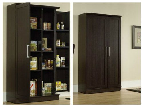 Food-Pantry-Cabinet-Kitchen-Armoire-Tall-Storage-Cupboard-Free-standing-Closet