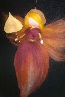 Autumn Fairy Poplar leaf, Magic Wool Waldorf inspired, Personalized Gift