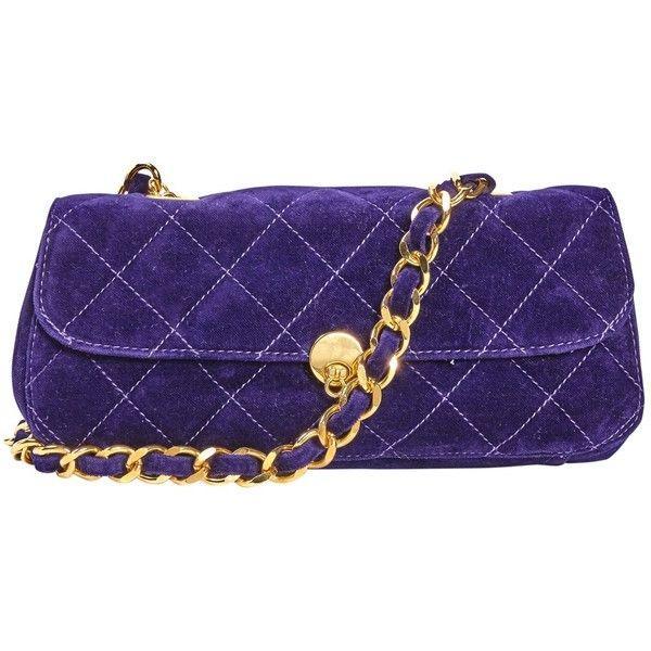 Pre-owned Anna Sui Velvet Handbag (460 BRL) ❤ liked on Polyvore featuring bags, handbags, purple, purple handbags, anna sui, hand bags, handbag purse and anna sui purse