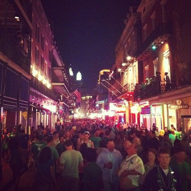 Bustling Bourbon Street