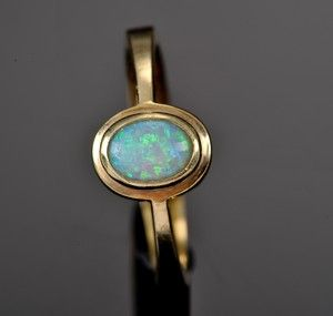 Billedresultat for guldring med opal