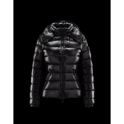 Moncler Dames Bady Detachable Hood Zwart Jassen Dames LacqueRood Nylon sale winterjassen