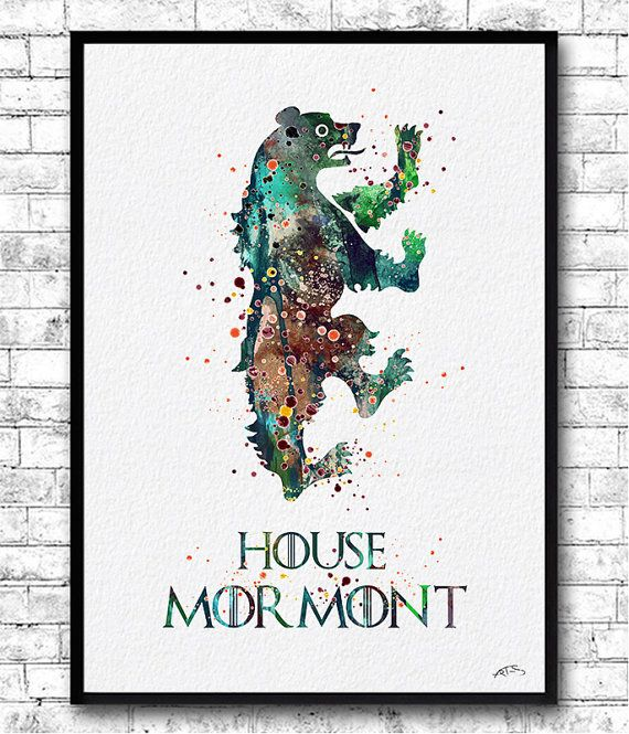 Instant Digital Download House Mormont Watercolor by ArtsPrint