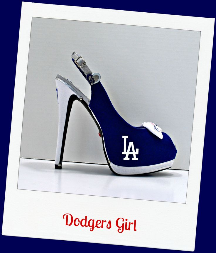 "LA Dodgers sling back heel ""Dodgers Girl"""
