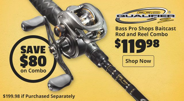 Bass Pro Shops Pro Qualifier 2 Baitcast Rod and Reel Combo (With