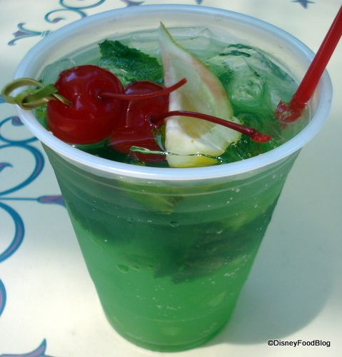 Disneyland Mint Julep Recipe - I just made this as part of our FHE treat.  It was FABULOUS, tastes just like the drink at New Orleans Square.  I couldn't find creme de methe syrup so I used Torani peppermint syrup from Cost Plus World Market and that worked just great.  I also added green food coloring.  It was a big hit.