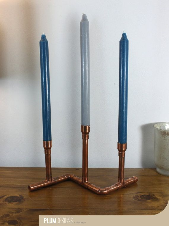 Z Copper Candle Holder