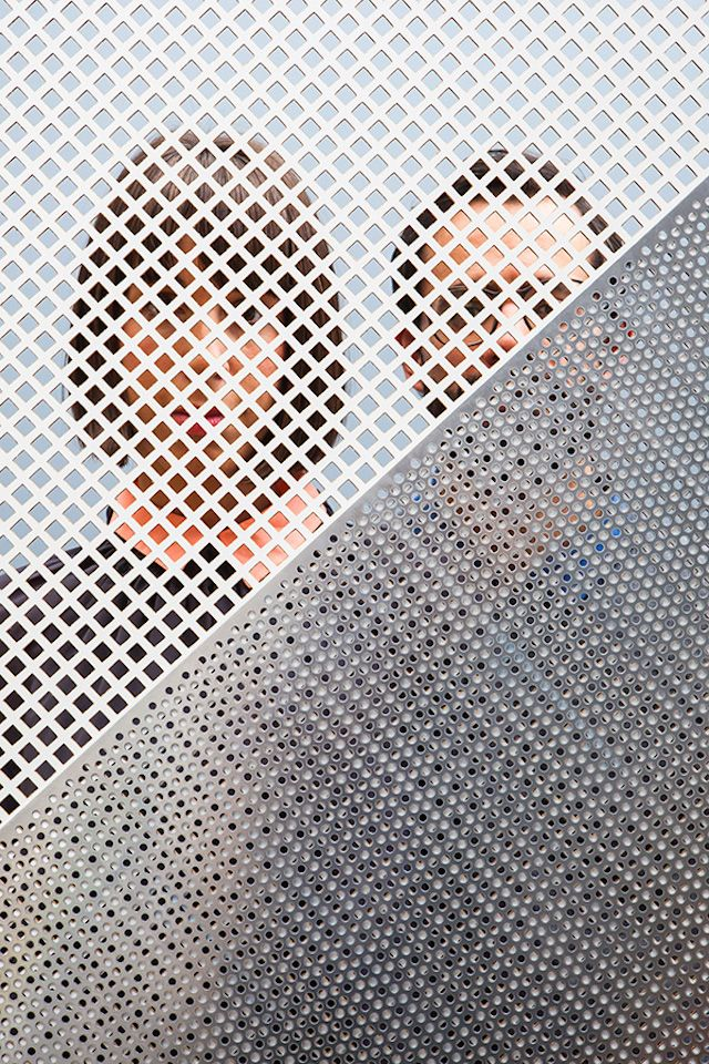 People Behind Perforated Screen 10 | Dutch Invertuals