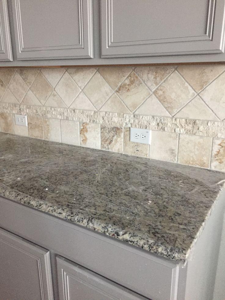 White Herringbone Backsplash In Kitchen Novocom Top